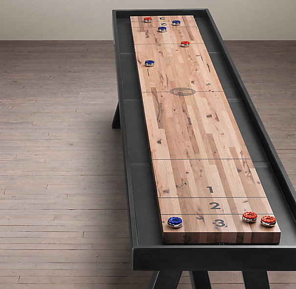 Reclaimed Oak Shuffleboard Table