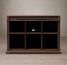 Library System 6-Cubby Open Cabinet