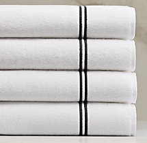 Hotel Satin Stitch Turkish Cotton Bath Towel