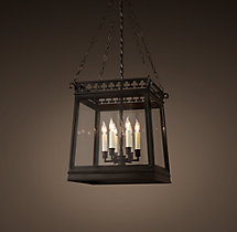 19th C. English Clover Lantern Pendant