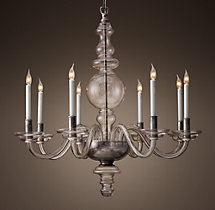 Brunswick Glass Chandelier 36""