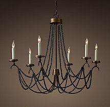 18th C. Italian Bead Chandelier 34""