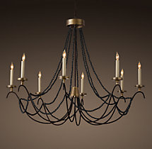 18th C. Italian Bead Chandelier 45""