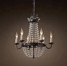 Marché French Empire Glass Chandelier 16""