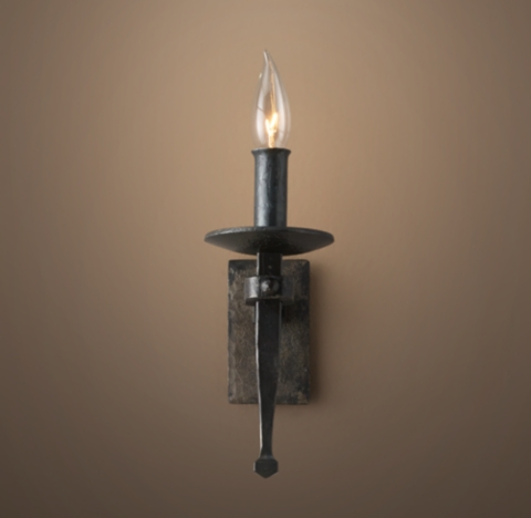 Circa 1920 Spanish Torch Sconce