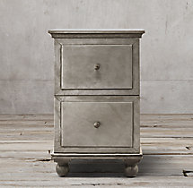 Annecy Metal-Wrapped 2-Drawer Narrow File Cabinet