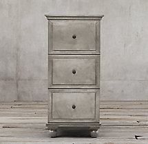 Annecy Metal-Wrapped 3-Drawer Narrow File Cabinet