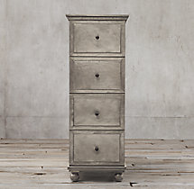 Annecy Metal-Wrapped 4-Drawer Narrow File Cabinet