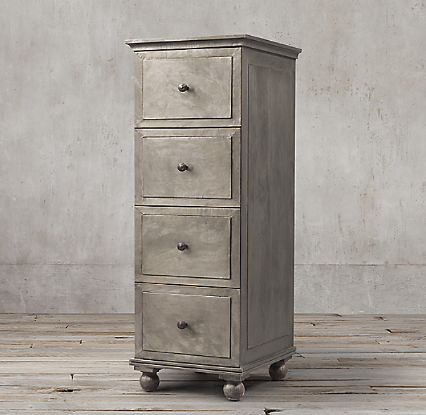 Annecy Metal Wrapped 4 Drawer Narrow File Cabinet