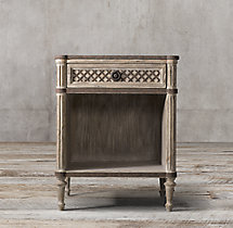 "Louis XVI Treillage 24"" Open Nightstand"