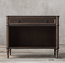 "38"" Louis XVI Treillage Open Nightstand"