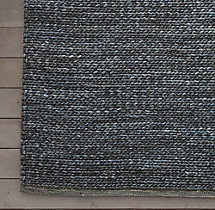Braided Wool Rug Swatch - Marine
