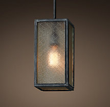 Union Filament Wire Glass Pendant - Weathered Zinc