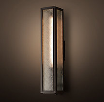Union Filament Wire Glass Tall Sconce