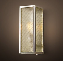 Union Filament Wire Glass Narrow Sconce