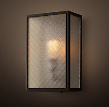 Union Filament Wire Glass Wide Sconce