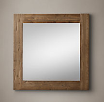 Reclaimed English Pine Mirror - Square