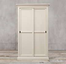 20th C. English Slider Panel Double-Door Cabinet