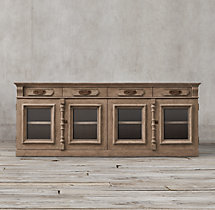 19th C. French Carved Door Sideboard