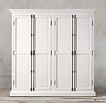 French Panel 4-Door Cabinet