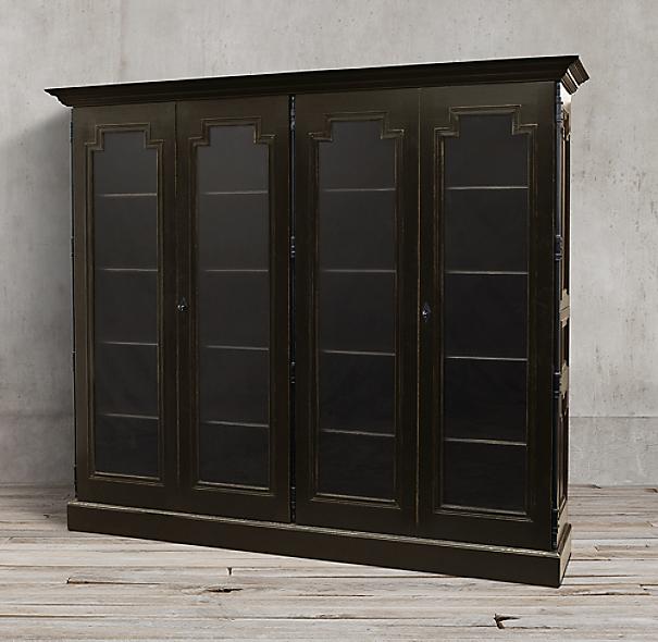 montpellier glass 4 door cabinet