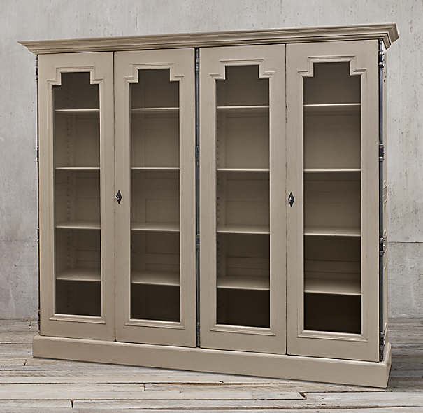 montpellier glass 4 door cabinet