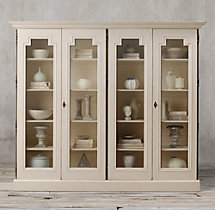 Montpellier Glass 4-Door Cabinet