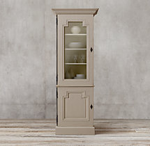 Montpellier Glass Single-Door Sideboard & Hutch