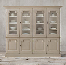 Montpellier Glass 4-Door Sideboard & Hutch
