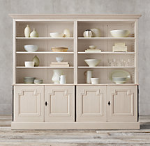 Montpellier Panel 4-Door Sideboard & Open Hutch