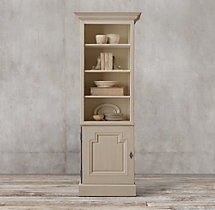 Montpellier Panel Single-Door Sideboard & Open Hutch