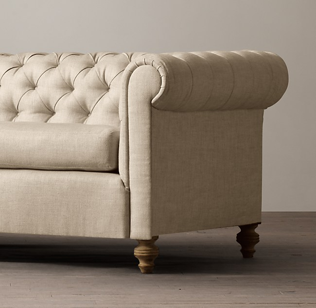 19th C Chesterfield Upholstered Sofa