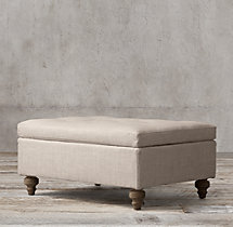 19th C. Chesterfield Upholstered Ottoman