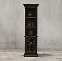 17th C. Castelló Single-Door Sideboard & Open Hutch