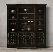 17th C. Castelló 4-Door Sideboard & Open Hutch
