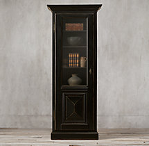 18th C. French Baroque Single-Door Cabinet
