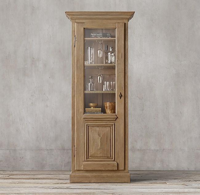 18th C French Baroque Single Door Bar Cabinet