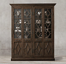 Georgian Fretwork 4-Door Cabinet