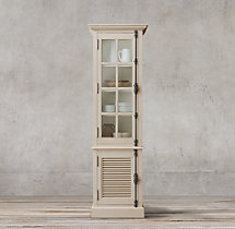 Shutter Single-Door Sideboard & Glass Hutch