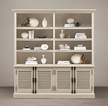 Shutter 4-Door Sideboard & Open Hutch
