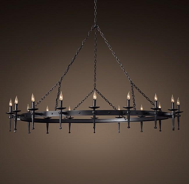 Circa 1920 spanish torch round chandelier 71 mozeypictures Choice Image