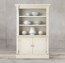 St. James Panel Double-Door Sideboard & Open Hutch