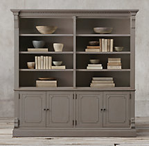 St. James Panel 4-Door Sideboard & Open Hutch