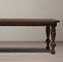 19th C. Oak Baluster Rectangular Dining Table