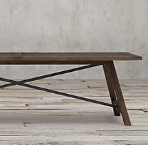 Railway Trestle Rectangular Dining Table