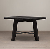 Railway Trestle Round Dining Table