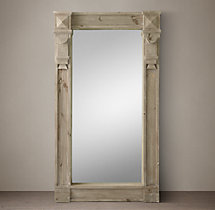 19th C. American Neoclassical Window Mirror