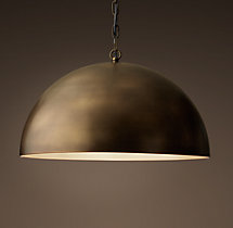 Antiqued Metal Dome Pendant