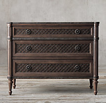 "Louis XVI Treillage 38"" Closed Nightstand"
