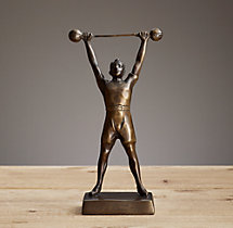 Bronze Weight Lifter